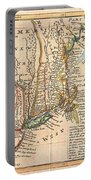 1729 Moll Map Of New York New England And Pennsylvania  Portable Battery Charger