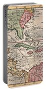 1732 Herman Moll Map Of The West Indies And Caribbean Portable Battery Charger