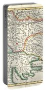 1738 Ratelband Map Of The Balkans Portable Battery Charger