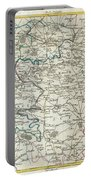 1740 Zatta Map Of Central France And The Vicinity Of Paris  Portable Battery Charger