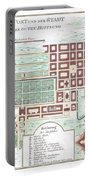 1750 Bellin Map Of Cape Town South Africa Portable Battery Charger