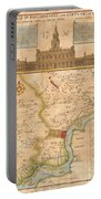 1752  Scull  Heap Map Of Philadelphia And Environs Portable Battery Charger