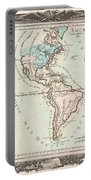 1760 Desnos And De La Tour Map Of North America And South America Portable Battery Charger