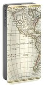 1762 Janvier Map Of North America And South America  Portable Battery Charger