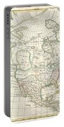 1762 Janvier Map Of North America  Portable Battery Charger