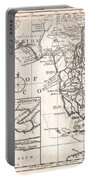 1763 Gibson Map Of East And West Florida Portable Battery Charger by Paul Fearn