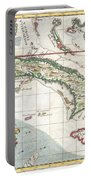 1763 Terreni  Coltellini Map Of Cuba And Jamaica Portable Battery Charger
