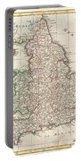 1772 Bonne Map Of England And Wales  Portable Battery Charger