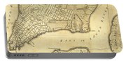 1776 New York City Map Portable Battery Charger