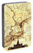 1777 Philadelphia Map Portable Battery Charger