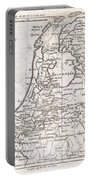 1780 Raynal And Bonne Map Of Holland And Belgium Portable Battery Charger