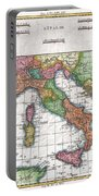 1780 Raynal And Bonne Map Of Italy Portable Battery Charger