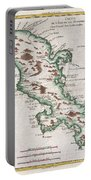 1780 Raynal And Bonne Map Of Martinique West Indies Portable Battery Charger