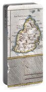 1780 Raynal And Bonne Map Of Mascarene Islands Reunion Mauritius Bourbon Portable Battery Charger