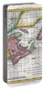 1780 Raynal And Bonne Map Of New England And The Maritime Provinces Portable Battery Charger