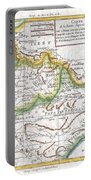 1780 Raynal And Bonne Map Of Northern India Portable Battery Charger
