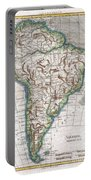 1780 Raynal And Bonne Map Of South America Portable Battery Charger