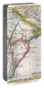 1780 Raynal And Bonne Map Of Southern Brazil Northern Argentina Uruguay And Paraguay Portable Battery Charger