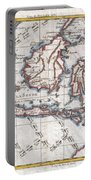 1780 Raynal And Bonne Map Of The East Indies Singapore Java Sumatra Borneo Portable Battery Charger