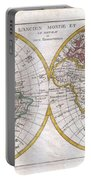 1780 Raynal And Bonne Map Of The Two Hemispheres Portable Battery Charger