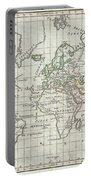 1784 Vaugondy Map Of The World On Mercator Projection Portable Battery Charger