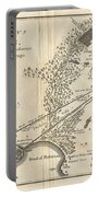 1785 Bocage Map Of Athens And Environs Including Piraeus In Ancient Greece Portable Battery Charger