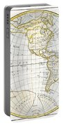 1785 Clouet Map Of North America And South America Portable Battery Charger