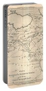 1787 Bonne Map Of The Dispersal Of The Sons Of Noah Portable Battery Charger