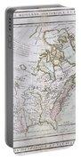 1789 Brion De La Tour Map Of North America Portable Battery Charger