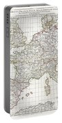 1794 Anville Map Of Europe In Late Roman Times Portable Battery Charger