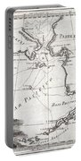 1798 Cassini Map Of Alaska And The Bering Strait Portable Battery Charger