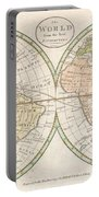 1798 Payne Map Of The World  Portable Battery Charger