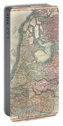 1799 Cary Map Of The Netherlands Portable Battery Charger