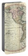 1799 Cary Map Of The Western Hemisphere  Portable Battery Charger