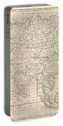 1799 Clement Cruttwell Map Of Asia Portable Battery Charger