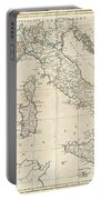 1799 Clement Cruttwell Map Of Italy Portable Battery Charger