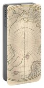 1799 Clement Cruttwell Map Of North Pole Portable Battery Charger