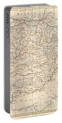 1799 Clement Cruttwell Map Of Spain And Portugal Portable Battery Charger