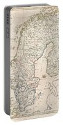 1799 Clement Cruttwell Map Of Sweden Denmark And Norway Portable Battery Charger