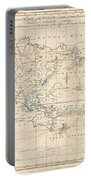 1799 Cruttwell Map Of The World On Mercators Projection Portable Battery Charger
