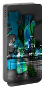 Sacramento Map And Skyline Watercolor Portable Battery Charger