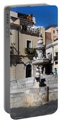 Another View Of An Old Unused Fountain In Taormina Sicily Portable Battery Charger