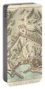 1800 Bardi Map Of Genoa Genova Italy  Portable Battery Charger