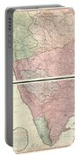 1800 Faden Rennell Wall Map Of India Portable Battery Charger