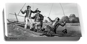 1800s Three 19th Century Men In Boat Portable Battery Charger