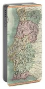 1801 Cary Map Of Portugal Portable Battery Charger