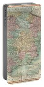1801 Cary Map Of Spain And Portugal Portable Battery Charger