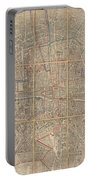 1802 Chez Jean Map Of Paris In 12 Municipalities France Portable Battery Charger