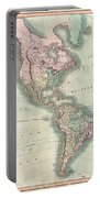 1806 Cary Map Of The Western Hemisphere  North America And South America Portable Battery Charger