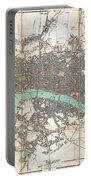 1806 Mogg Pocket Or Case Map Of London Portable Battery Charger